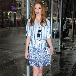 Peter Som for Design Nation Blue Splatter Dress 8